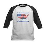 United States of Colbertica Kids Baseball Jersey