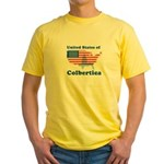 United States of Colbertica Yellow T-Shirt