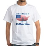 United States of Colbertica White T-Shirt