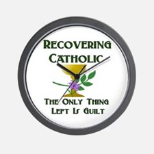 Recovering Catholic Wall Clock