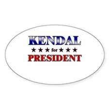 KENDAL for president Oval Decal