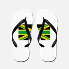 British - Jamaican Union Jack Flip Flops