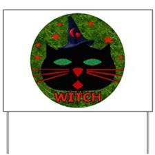 Cat Witch Yard Sign