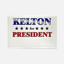 KELTON for president Rectangle Magnet