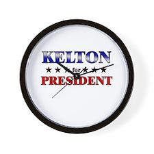 KELTON for president Wall Clock