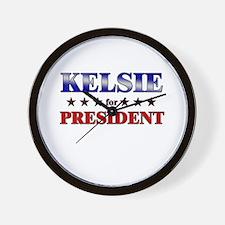 KELSIE for president Wall Clock