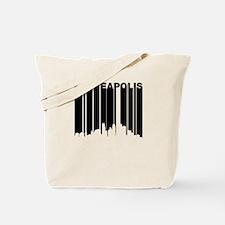 Retro Minneapolis Cityscape Tote Bag