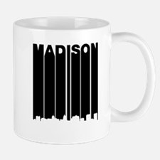 Retro Madison Cityscape Mugs