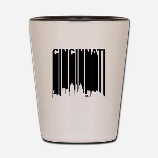 Retro Cincinnati Cityscape Shot Glass