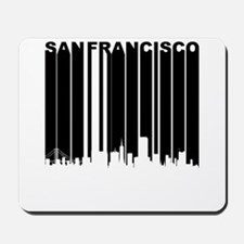 Retro San Francisco Cityscape Mousepad