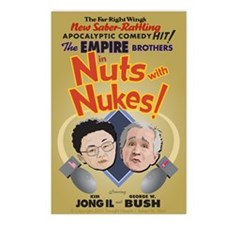 """""""Nuts with Nukes"""" Postcards (Package of 8)"""