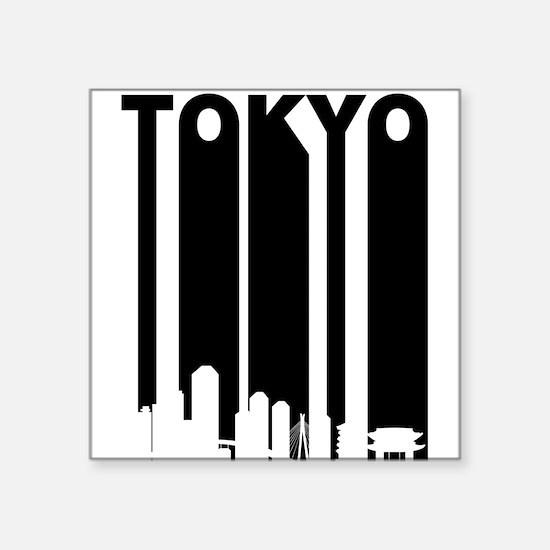 Retro Tokyo Cityscape Sticker