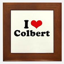 I Love Colbert Framed Tile