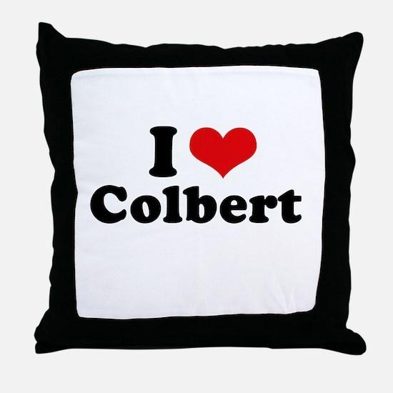 I Love Colbert Throw Pillow