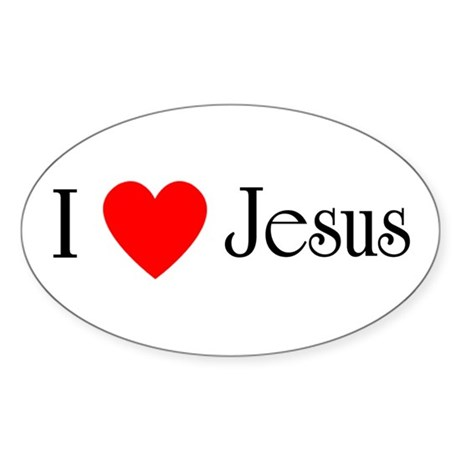 I Love Jesus Sticker (Oval)