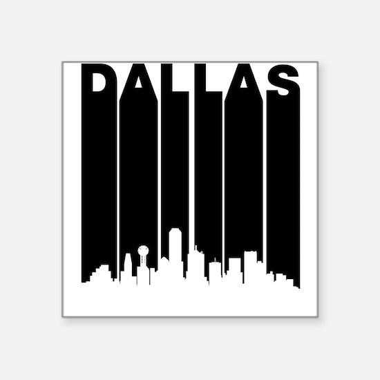 Retro Dallas Cityscape Sticker