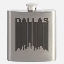 Retro Dallas Cityscape Flask
