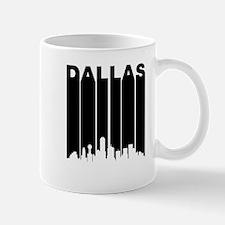 Retro Dallas Cityscape Mugs