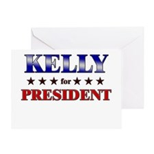 KELLY for president Greeting Card