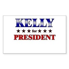 KELLY for president Rectangle Decal
