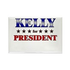 KELLY for president Rectangle Magnet