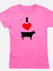 Unique I love cow Girl's Tee