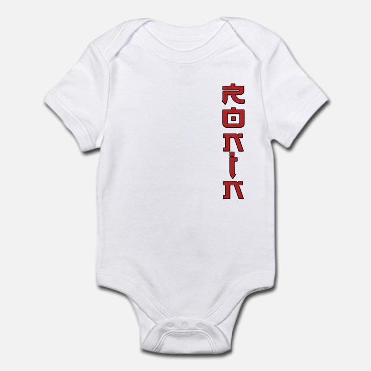 Ronin Text Design Red Infant Bodysuit