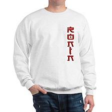 Ronin Text Design Red Sweatshirt