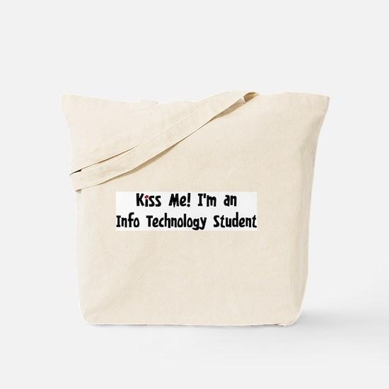 Kiss Me: Info Technology Stud Tote Bag
