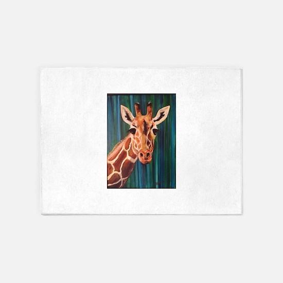 Giraffe Fun! 5'x7'Area Rug