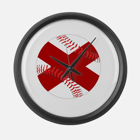 Funny Ball state cardinals Large Wall Clock