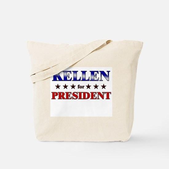 KELLEN for president Tote Bag