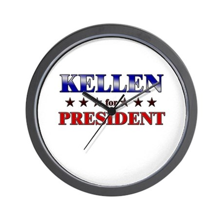 KELLEN for president Wall Clock
