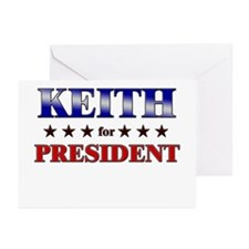 KEITH for president Greeting Cards (Pk of 20)