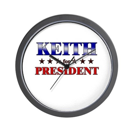 KEITH for president Wall Clock