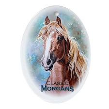 """""""Classic Morgans"""" Oval Ornament"""