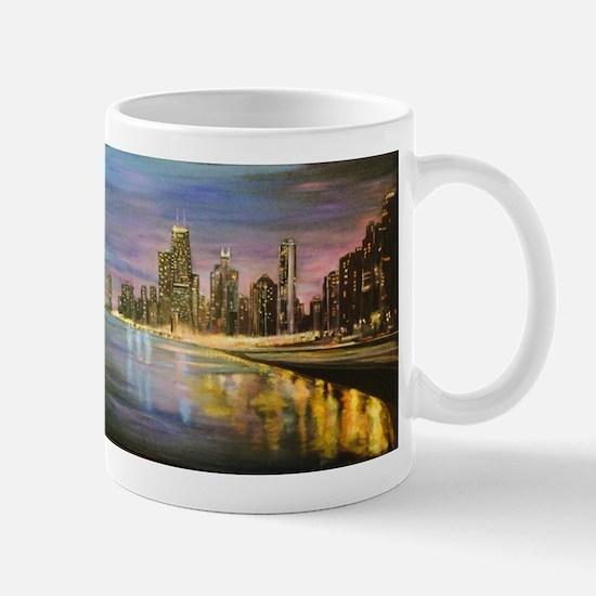 Chicago by Night Mugs