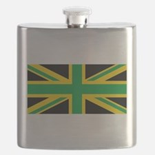 British - Jamaican Union Jack Flask