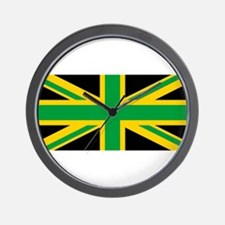 British - Jamaican Union Jack Wall Clock