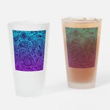 Depp Purple Floral Paisley On Purpl Drinking Glass