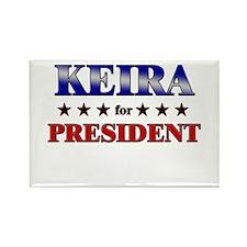 KEIRA for president Rectangle Magnet