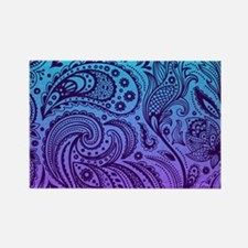 Depp Purple Floral Paisley On Purple And T Magnets