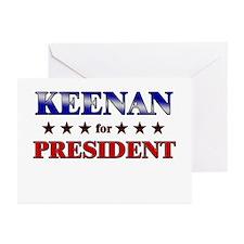 KEENAN for president Greeting Cards (Pk of 20)
