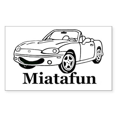 MiataFun Sticker (Rectangular)