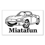 MiataFun Sticker (Rectangular)