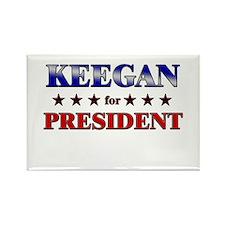 KEEGAN for president Rectangle Magnet