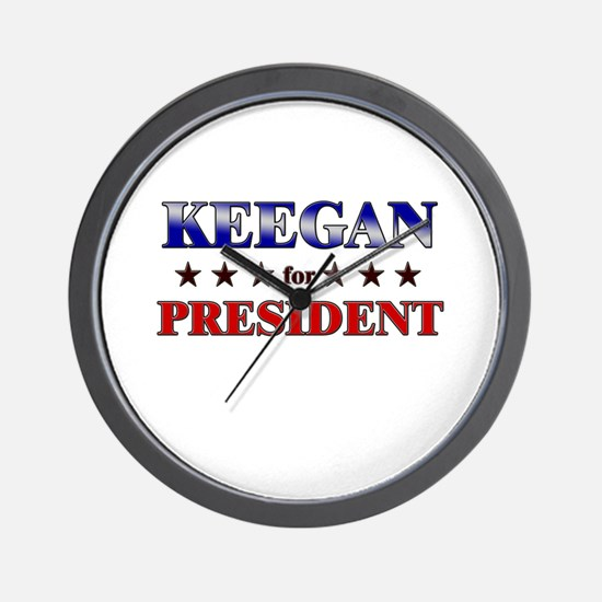 KEEGAN for president Wall Clock