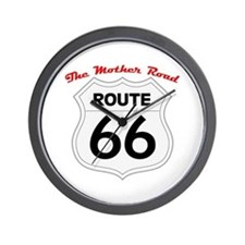 Route 66 - The Mother Road Wall Clock