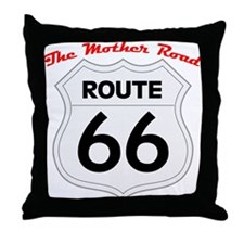 Route 66 - The Mother Road Throw Pillow