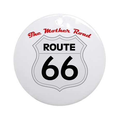 Route 66 - The Mother Road Ornament (Round)